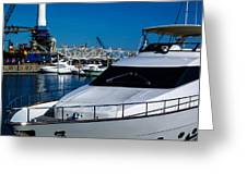 Boats In Port 2 Greeting Card