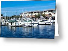 Boats In Port 5 Greeting Card