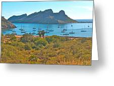 Boats In San Carlos Harbor-sonora-mexico Greeting Card