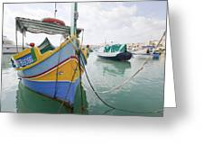 Boats Of Malta Greeting Card