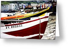 Boats On A French Beach Greeting Card