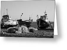 Boats On Beer Beach Greeting Card