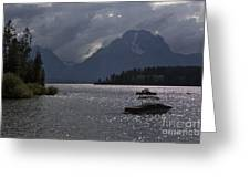 Boats On Jackson Lake - Grand Tetons Greeting Card