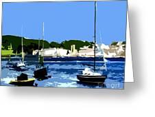 Boats On Strangford Lough Greeting Card