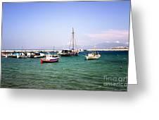 Boats On The Aegean Sea 1 - Mykonos - Greece Greeting Card