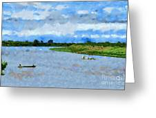 Boats Painting Greeting Card