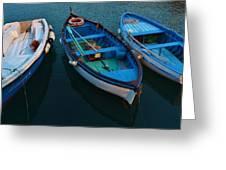 Boats Trio Greeting Card