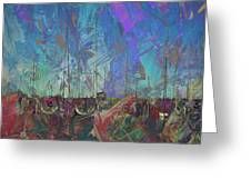 Boats W Painted Abstract Greeting Card