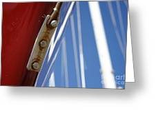 Boatyard Red White And Blue Greeting Card
