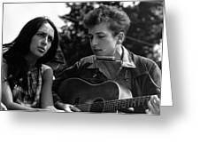 Bob Dylan And Joan Baez Greeting Card