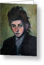 Bob Dylan Portrait In Colored Pencil  Greeting Card