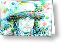 Bob Dylan - Watercolor Portrait.2 Greeting Card
