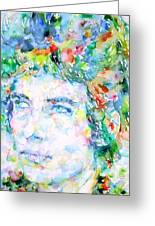 Bob Dylan Watercolor Portrait.3 Greeting Card