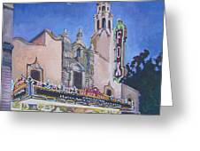 Bob Hope Theatre Greeting Card by Vanessa Hadady BFA MA