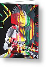 Bob Marley And Rasta Lion Greeting Card