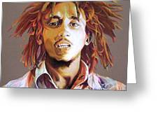 Bob Marley Earth Tones Greeting Card