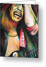 Bob Marley In Agony Greeting Card