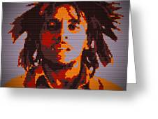 Bob Marley Lego Pop Art Digital Painting Greeting Card