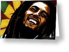 Bob Marley Rastafarian Greeting Card