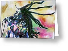 Bob Marley Singing Portrait.1 Greeting Card