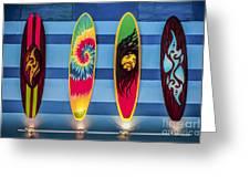 Bob Marley Surfing Display Greeting Card