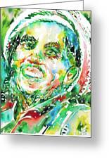 Bob Marley Watercolor Portrait.2 Greeting Card