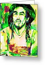 Bob Marley Watercolor Portrait.9 Greeting Card