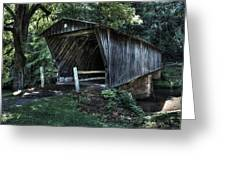 Bob White's Covered Bridge Greeting Card