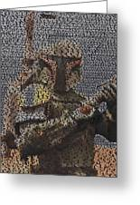 Boba Fett Quotes Mosaic Greeting Card