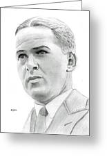 Bobby Jones Greeting Card by Pat Moore
