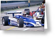 Bobby Unser In The Norton Race Car Greeting Card by Martin Sullivan