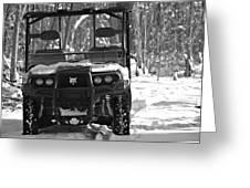 Bobcat Atv In Winter Greeting Card