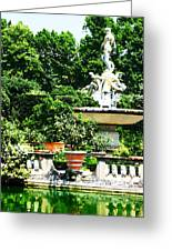 Boboli Gardens Fountain Florence Italy Greeting Card