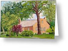 Bockrath-weise House Impressionistic Oil Painting Greeting Card