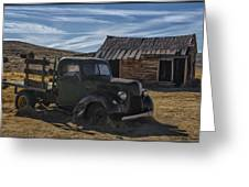 Bodie Abandoned Truck Greeting Card