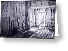 Bodie California In Black And White Greeting Card