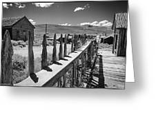 Bodie California Long Dusty Road Greeting Card