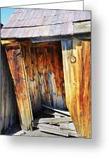 Bodie Decaying Privy Greeting Card