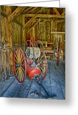 Bodie Fire Dept Water Pumper Img 7310 Greeting Card