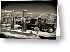 Bodie Gas Station Greeting Card