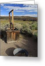 Bodie Ghost Town At The Well Greeting Card
