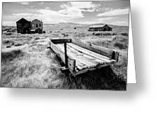 Bodie Ghost Town In Black And White Greeting Card