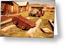 Bodie Ghost Town Ore Car Greeting Card