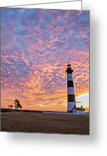 Bodie Island Lighthouse At Sunrise Vetical Greeting Card