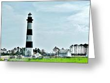 Bodie Island Lighthouse - Outer Banks North Carolina Greeting Card