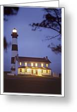 Bodie Light Just After Dark Greeting Card