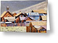 Bodie Rooftops Greeting Card