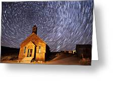 Bodie Star Trails Greeting Card