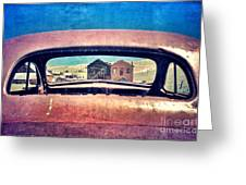 Bodie Through Car Window Greeting Card