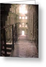 Bodmin Jail Looking In Greeting Card